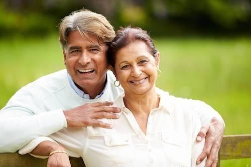 Older couple smiling | Dental Implants in Calgary AB